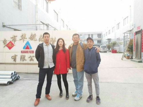 Warmly welcome Customer from Indonesia to Huahang Filter