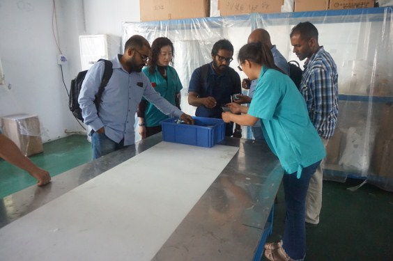 Warmly Welcome Customer From Maldives To Huahang Filter
